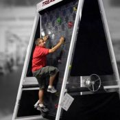 The climbing wall treadmill for fitness and rock climbing enthusiasts
