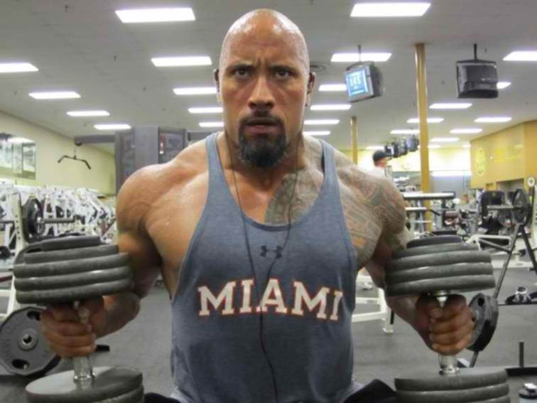 dwayne johnson the rock workout routine