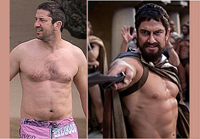Gerard Butler workout fitness in 300