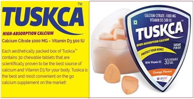 TUSKCA chewable calcium tablets
